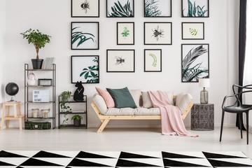 Sofa in botanic living room