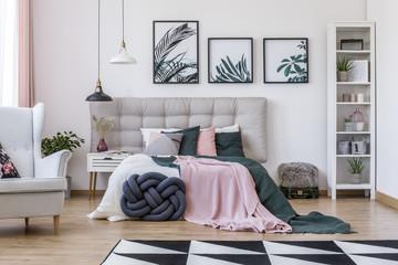 Armchair in cozy bedroom