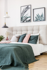Floral bedroom with leaves posters