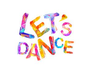 Let's dance. Vector triangular letters