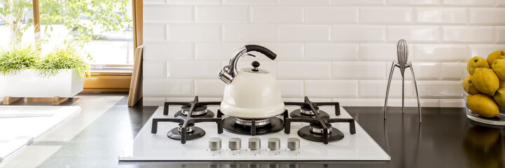 Kettle on stove