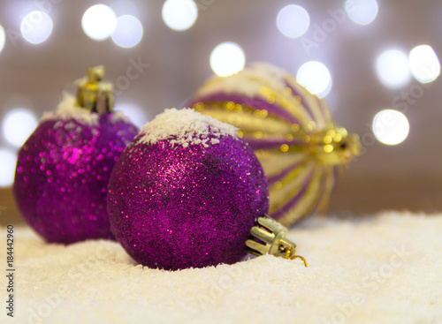christmas decorations purple and gold christmas balls