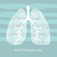 World Pneumonia Day. Human lungs. Medical illustration. Health care vector illustration. Lungs icon. Human lungs vector icon