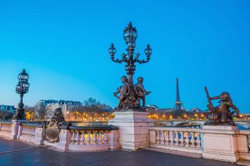 Fotomurales - The Alexander III Bridge across Seine river in Paris