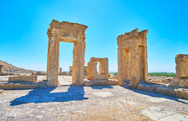 The ruins of Tripylon, Persepolis, Iran