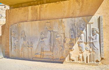 Audience relief in Persepolis, Iran