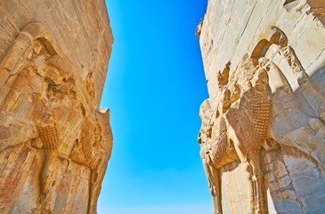 Walking through All Nations Gate, Persepolis, Iran