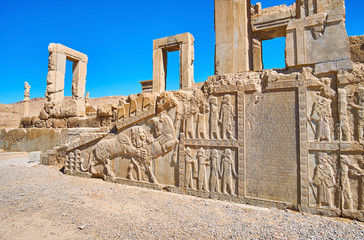 Ancient art in Persepolis, Iran