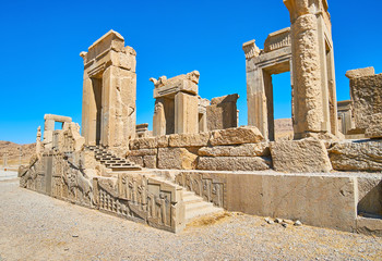 Archaeological site of Tachara palace, Persepolis, Iran