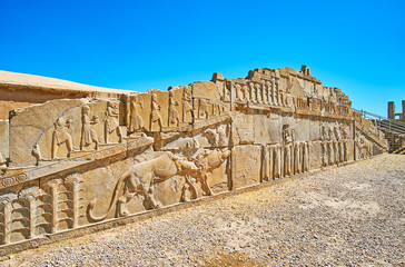 Reliefs of Palace of Xerxes, Persepolis, Iran