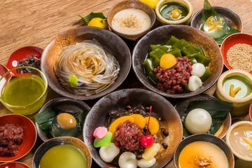 和スイーツ 色々 traditional Japanese Sweet taste desert