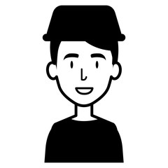 young man with taxi light avatar character