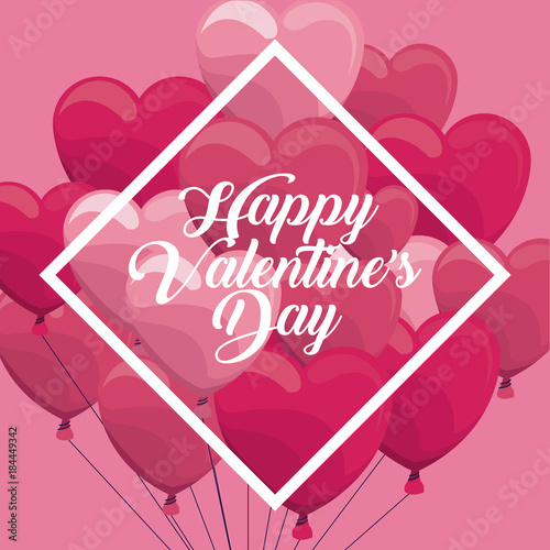 Happy Valentines Day Icon Vector Illustration Graphic Design Stock