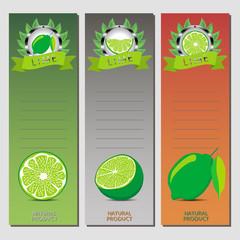 Vector illustration for ripe fruit green lime