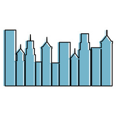 cityscape buildings isolated icon