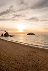 Sunrise in the village of Tossa de Mar, Costa brava