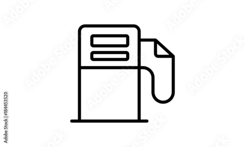 Gas Station Line Icon Gasoline Pump Symbol Stock Image And Royalty