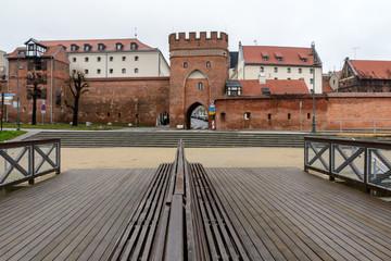 Torun, Poland, Bridge Gate in town walls