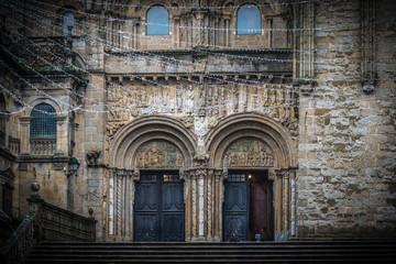 Catedral de Santiago de Compostela en Galicia, España.