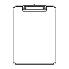office clipboard clip stationery element blank icon vector illustration outline