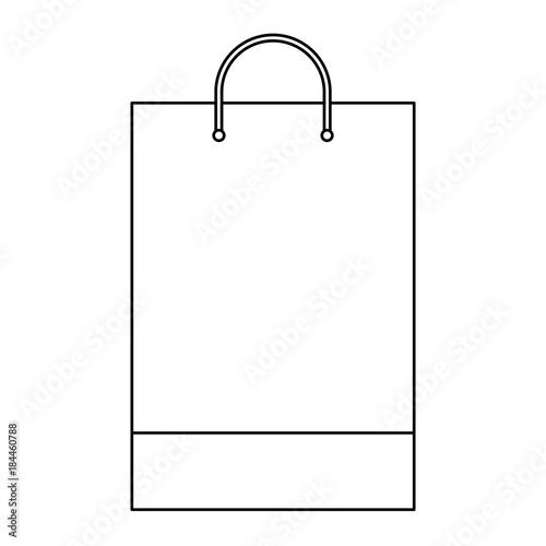 Shopping Bag Template Sample Business Stationery Blank Vector Illustration Outline