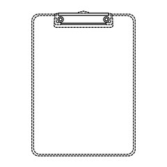 office clipboard clip stationery element blank icon vector illustration dotted line design