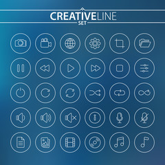 Universal thin icons set for your Web and Mobile Design