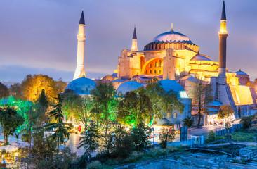 Hagia Sophia at night, Istanbul, Turkey
