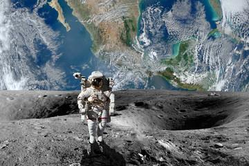 ASTRONAUTA NA KSIĘŻYCU, PLANETA ZIEMIA NASA