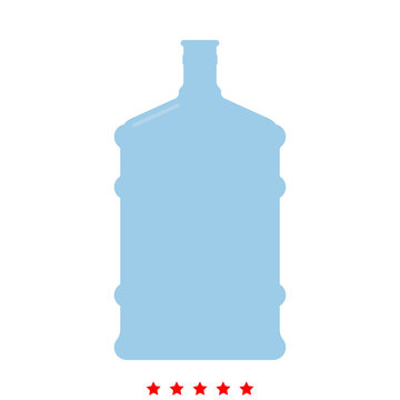 Dispenser large bottles icon . Different color .