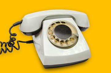 vintage disk phone