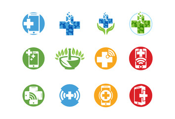 Vector of Medical logo or icon set