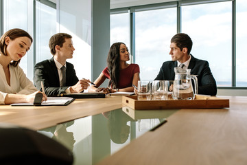 Group of corporate professionals having meeting