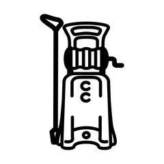 Vector icon of high pressure washer