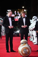 The Duke of Cambridge and Prince Harry attend the European Premiere of Star Wars: The Last Jedi, at the Royal Albert Hall, London