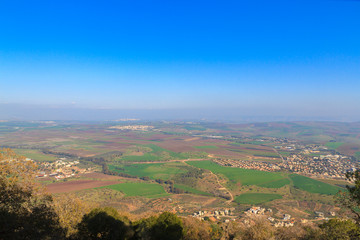 View from Mount Tabor to Galilee towards Lake Kinneret