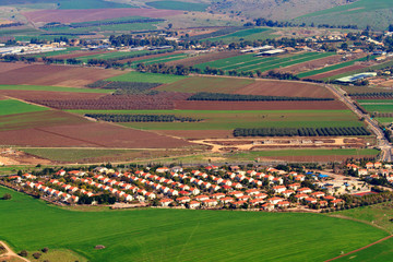 View from Mount Tabor to Kibbutz Alonim in Israel