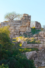 Ruined wall on a Mount Tabor