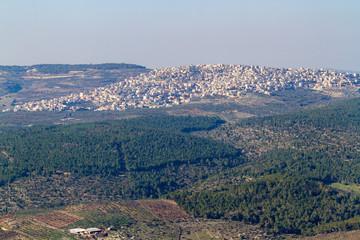 Arabian village near of Mount Tabor
