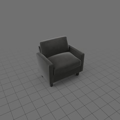 Modern living room chair with cushions
