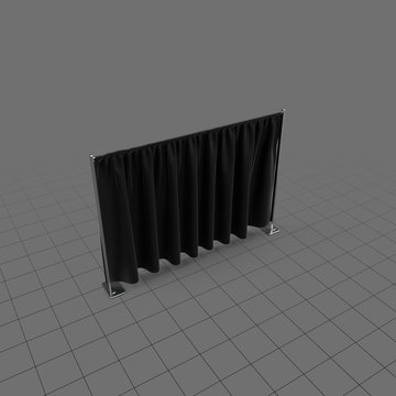 Curtain divider for public event