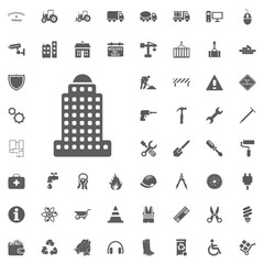 Skytower building icon. Construction and Tools vector icons set