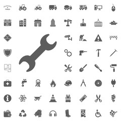 Wrench icon. Construction and Tools vector icons set