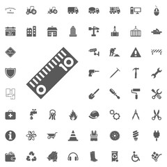 Ruler icon. Construction and Tools vector icons set