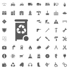Recycle icon. Construction and Tools vector icons set