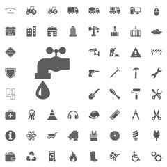 Water, tap icon. Construction and Tools vector icons set