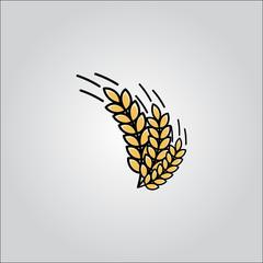 Argiculture wheat logo