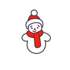 Illustration of snowman