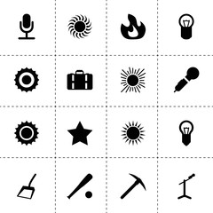 Clipart icons. vector collection filled clipart icons