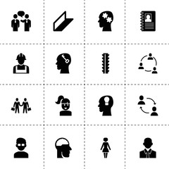 Profile icons. vector collection filled profile icons